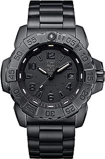ساعة رجالي من لومينوكس، لون أزرق داكن من الفولاذ (XS.3252.BO.L) - مقاومة للماء 200 م، كريستال ياقوتي، صناعة سويسرية