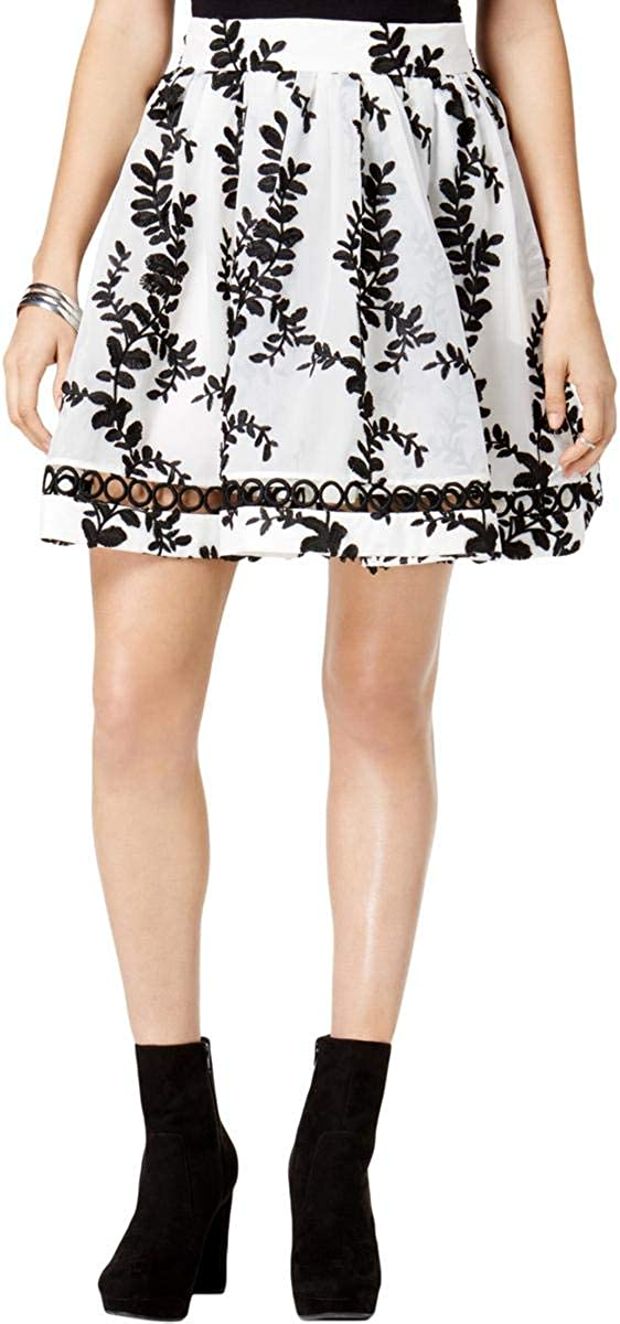 Mare Mare Womens Embroidered Flared Skirt, White, Small