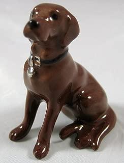 LABRADOR RETRIEVER Dog Chocolate Lab Sits w/Black COLLAR Miniature Figurine Ceramic HAGEN-RENAKER 888C by Hagen Renaker