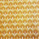 Werthers Stoffe Stoff Meterware wasserdicht gelb senf 70er