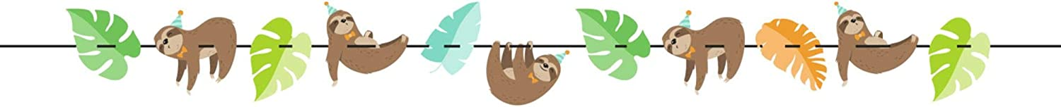 Club supreme Pack of 12 Courier shipping free Brown and Birthday Party Icons Blue Sloth Banner
