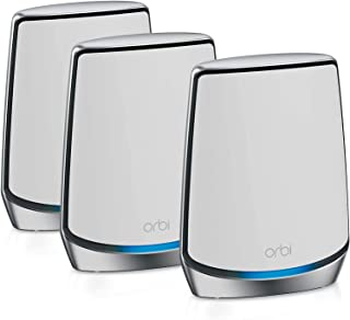 NETGEAR Orbi Whole Home Tri-Band Mesh WiFi 6 System (RBK853) – Router with 2 Satellite Extenders | Coverage up to 6,000 sq...