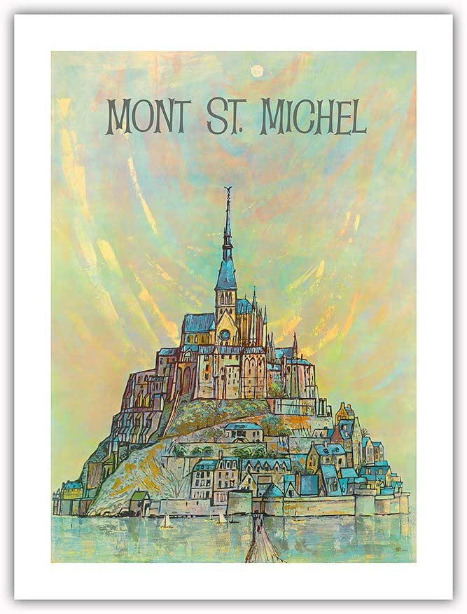 Mont St. Michel Island - Quantity limited Poste France Vintage Max 61% OFF Normandy Travel