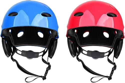 YWEHAPPY 2 Pièces Casque De Sécurité Hard Hat pour Kayak Surf Paddleboard Sports Nautiques pour Bateau à Rames