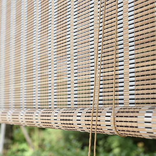 ZXXL Persiana Enrollables Persianas Enrollables de Bambú Opacas 95cm / 105cm / 115cm / 125cm / 135cm / 145cm / 155cm de Ancho, Persianas de Ventana de Cocina con Accesorios