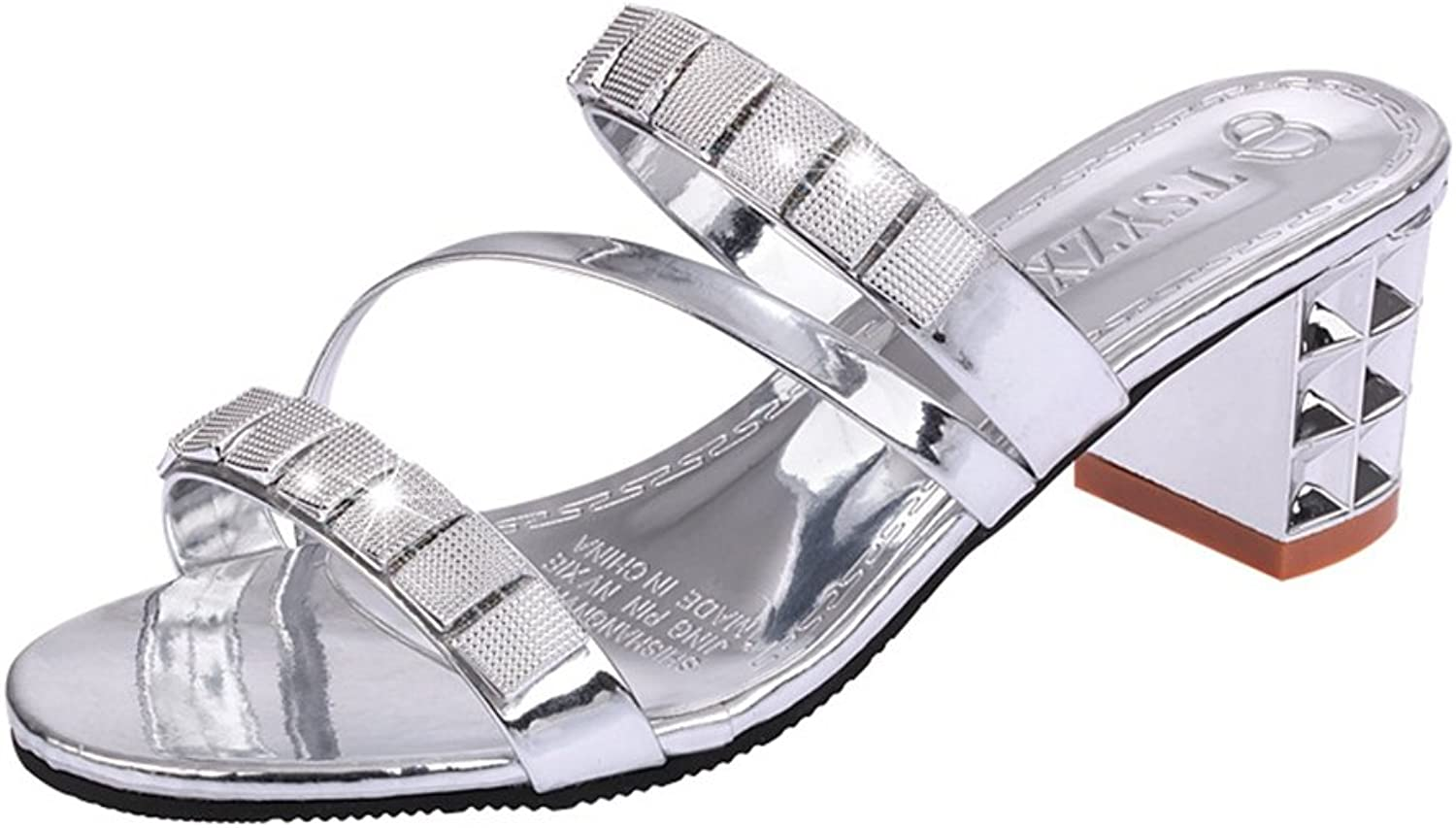 T -JULY kvinnor Ladies Crystal Rhinestone Beaded Beaded Beaded Sandals Hollowed Out Water Drill Slippers bröllop Party Evening Slippers  100% autentisk