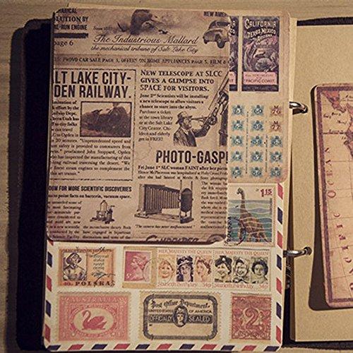 Zelfklevende poster briefmerk papier stickers pakket vintage kaart student briefpapier envelop scrapbook papier sticker10 vellen
