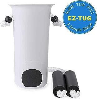 Medical Ez-Tug Sock Aid Assist with Foam Grip Handles & Length Adjustable Cords