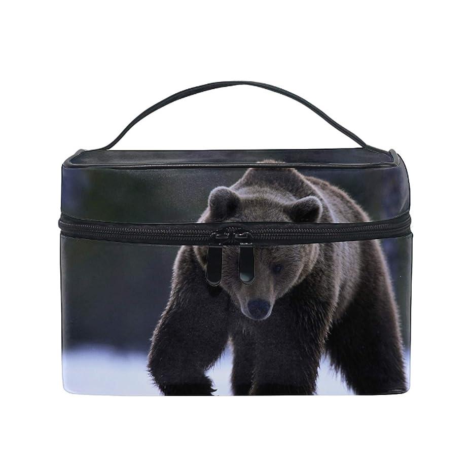 誘導顧問足くま収納バッグ コスメポーチ 化粧ポーチ 洗面用具入れ トラベルポーチ 旅行 出張 収納 コスメバッグ コンパクト 超軽量