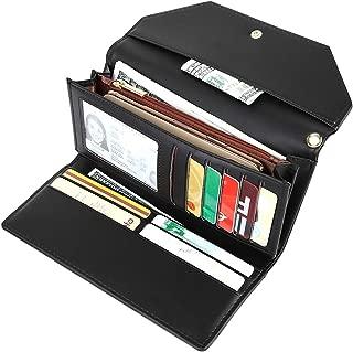 Women's Long trifold Credit Card Holder Envelope Wristlet Clutch Wallet Purse