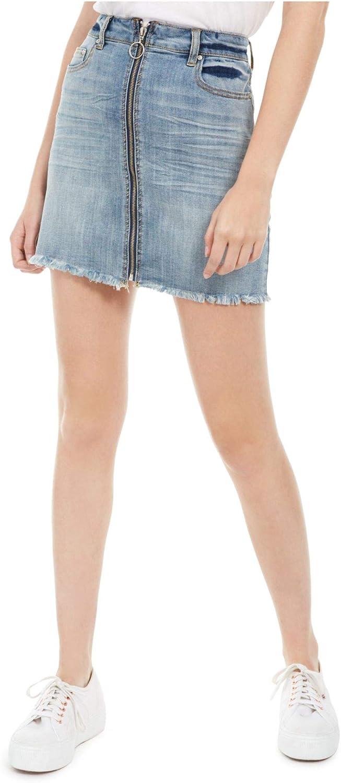 Indigo Rein Womens Blue Zippered Mini Pencil Skirt Size 0