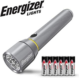 Energizer LED Flashlights, 700-1300 High Lumens, IPX4 Water Resistant, Aircraft Grade Metal Tactical Flashlight, USB Rechargeable or AA Battery Option (Batteries Included)