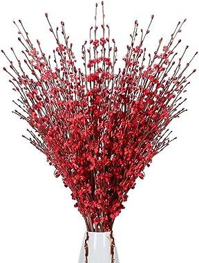 10pcs Artificial Flower Jasmine Fake Flower for Wedding, Home Office, Hotel Restaurant Silk Flowers Decoration 29.5 inches (R