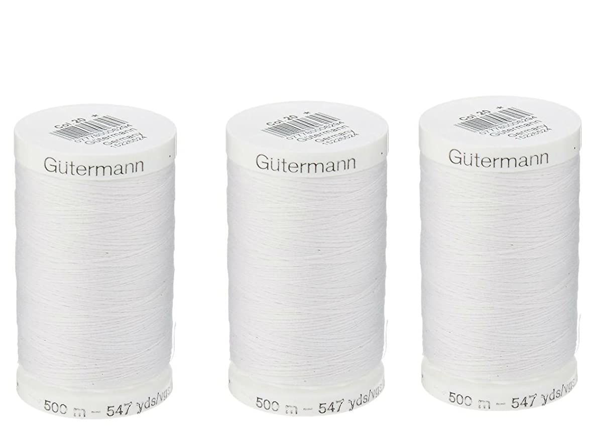 Sew-All, All PurposeThread 547 Yards-Black GUTERMANN Thread 3 pack (White)