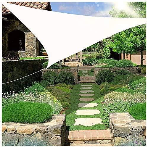 HJXX Toldo triángulo impermeable, protección solar, toldo triangular, vela de 272 g/m², bloque UV para patio al aire libre, jardín, patio trasero, césped