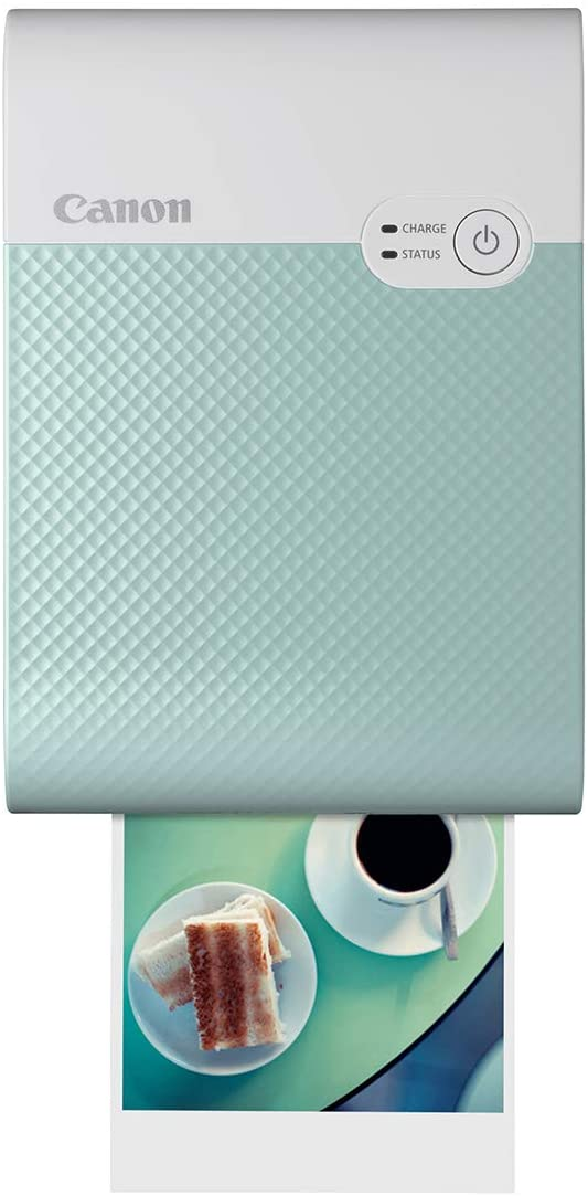 Canon SELPHY QX10 Portable Square Photo Printer for iPhone or Android, Green