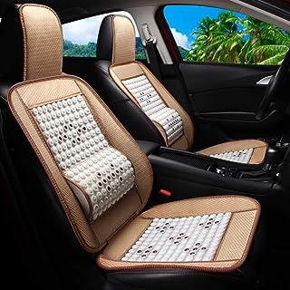 Asiento De Masaje Para Automóvil, Asiento Transpirable Interior De Una Pieza Sandwich Para Automóvil, Masaje De Cintura Para Automóvil/Oficina/Familia (Paquete De 2),Blanco