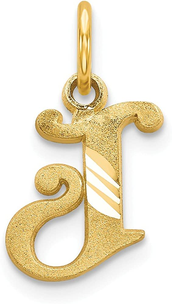 Solid 14k Yellow Gold Initial Sale special price Letter - Pendant Charm J Alphabet 4 years warranty