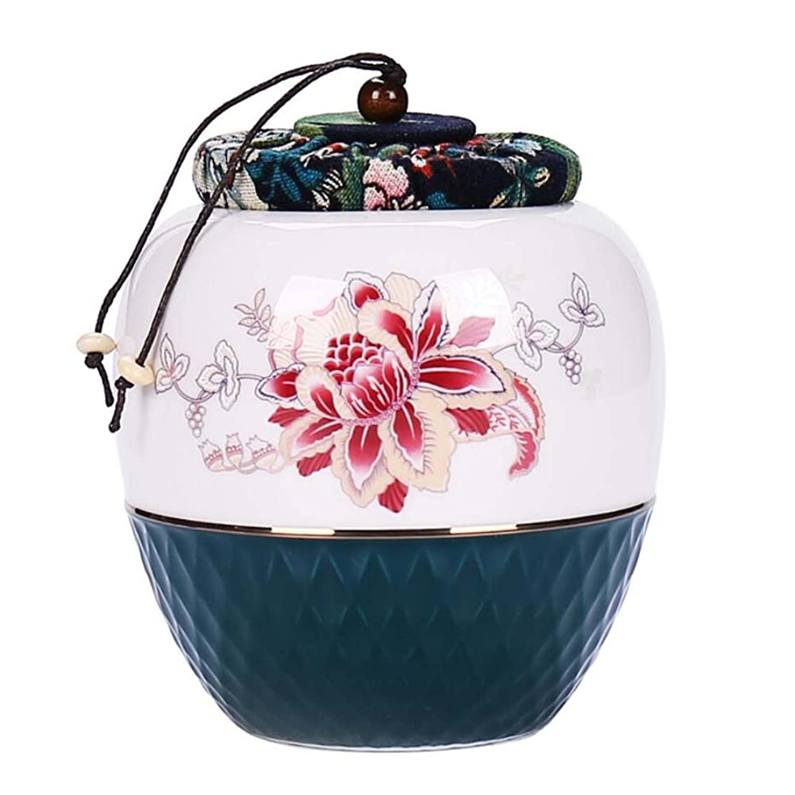 Ceramic Tea Storage Container Kitchen Storage Canister Jar for Candy Coffee - 11 x 14 cm/4.3 x 5.5 inches - 33