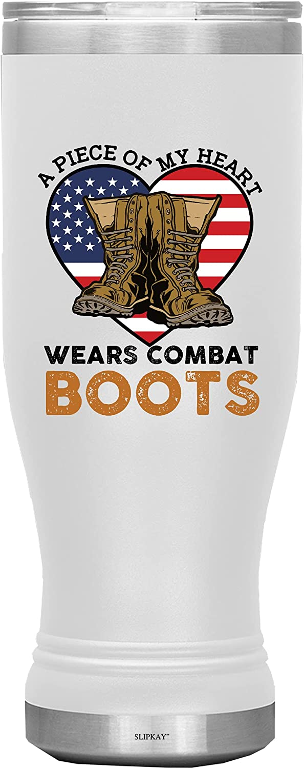 A Piece Of My Heart Wears Boots Combat Tumbler Boho Arlington Mall In a popularity 20oz White