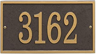 """Best Whitehall Personalized Cast Metal Address Plaque - Custom House Number Sign - Rectangle (11"""" x 6.25"""") - Bronze with Gold Numbers Review"""
