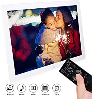 17in Digital Photo Frame, 1440p*900 HD Digital Photo Picture Frame Picture/Video/Music Player Remote Control Digital Album...