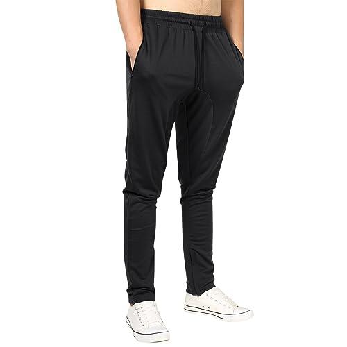 2d0999bec53f Yong Horse Men s Lightweight Joggers Pants Zipper Pockets Fitness Bottoms  Gym Workout Sweatpants
