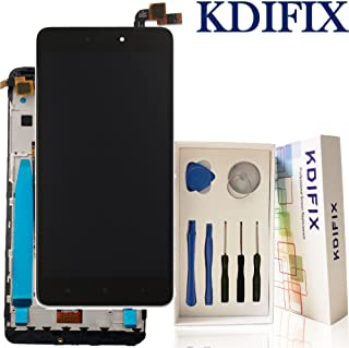 KDIFIX for XiaoMi Redmi Note 4 LCD Touch Screen Assembly + Frame with Full Professional Repair Tools kit (Black+Frame) (Black+Frame)