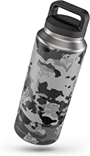 SOFLETE Black Multicam Protector Skin Sticker Compatible with Yeti Rambler 36oz Bottle - Ultra Thin Protective Vinyl Decal Wrap Cover
