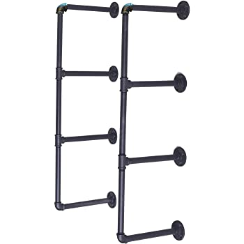 Topower DIY Estanter/ía de pared para estanter/ía 3 estantes color negro