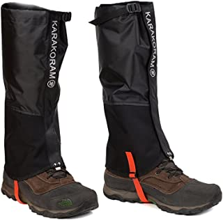 Weanas Leg Gaiters Waterproof Snow Boot Gaiters Anti-Tear Oxford Fabric Shoes Cover for Hiking, Skiing, Walking, Climbing, Mountain