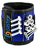 Bastex Magnetic Wristband With Strong Magnets for Holding Screws, Nails, Bolts, Drill bits, and Other Small Metal Tools. The Best helping hand. (Blue)