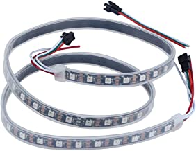CHINLY 3.3ft 60leds WS2812B Individually Addressable LED Strip Light 5050 RGB SMD 60 Pixels Dream Color Waterproof IP67 Black PCB 5V DC (Black PCB 3.3ft 60leds waterproof)