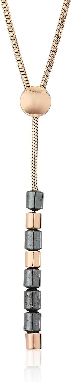 Skagen Women's Ellen Rose-Tone Stainless Steel Necklace (Model: SKJ1265791)