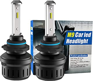9005 LED Headlight Bulbs,Winhoi 50W 10000LM Extremely Bright All-in-One Conversion Kit,CSP Chips,360 Degree Adjustable Beam Angle,6500K Xenon White