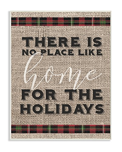 Stupell Industries No Place Like Home For the Holidays Wall Plaque, 10 x 15, Multi-Color