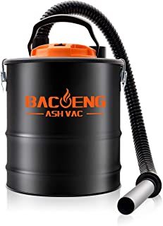 BACOENG 4 Gallon 6.6Amp Compact Ash Vacuum Cleaner w/Blowing Function, Bagless Debris Ash Collector for Fireplaces, Grills, BBQ's, Fire Pits, and Stoves