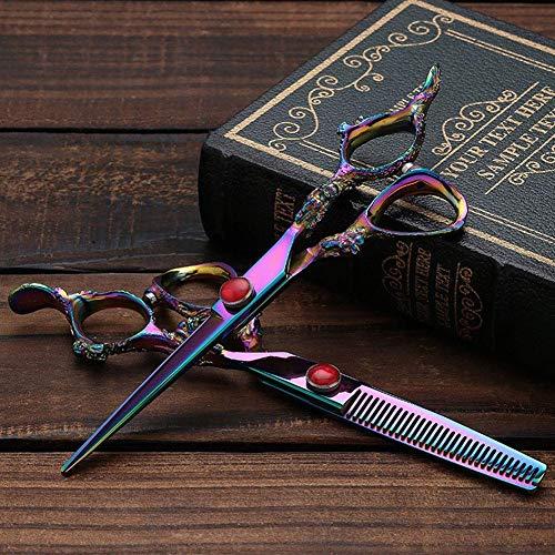 YLLN Ciseaux à effiler, Design - Ciseaux de Coiffure Ciseaux à Cheveux Série pour droitiers Ciseaux de Coiffure de Salon Professionnel et précis