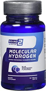 Round 2 Nutrition Blue Raspberry Flavored Molecular Hydrogen Tablets, 30 Count, 650mg Maximize Performance & Accelerate Recovery
