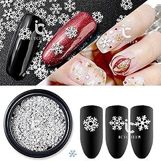 ICYCHEER 1 Doos Kerstmis 3D Sneeuw Nagel Art Decoraties DIY Sneeuw Bloem Ontwerp Kleine Slice Nagels Accessoires Nagel Art...