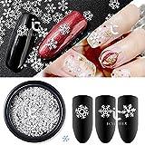 1icycheer, mit Weihnachts-Dekoration, mit Strasssteinen, Blumen-Design, mit Scheiben, Nail-Art-Zubehör, Glitzer