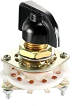 uxcell 1P6T 1 Pole 6 Position Selectable 1Deck Band Selector Rotary Switch with Plastic Knob