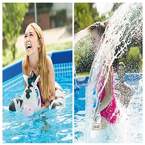 GonbObcxggr Rechteckigen Rahmen Swimming-Pool, Riesen-Planschbecken Harte Schale Mit Luxusgeschenke Und Pool Tuch (220 * 150Cm)