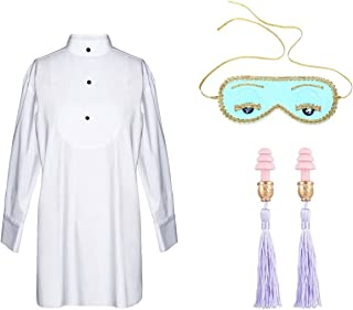 Audrey Style Sleep Shirt Eye Mask Earplugs Set Women Inspired By BAT's