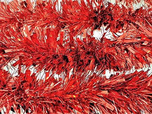 YLAB - 6 Strands of Luxury Red Tinsel (12 meters in total)