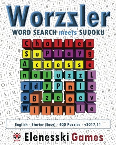 Worzzler (English, Starter, 400 Puzzles) 2017.11: Word Search meets Sudoku