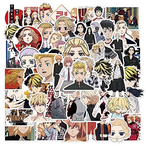 SHUYE Japón Anime Tokio Vengadores Dibujos Animados Lindas Pegatinas teléfono portátil Pegatinas Impermeables 50 Hojas