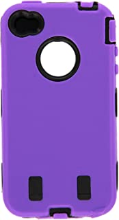 Generic Body ArmorCell Phone Case for iPhone 4/4th Generation - Non-Retail Packaging - Purple