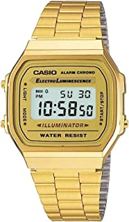 Casio Digital Dial Stainless Steel Watch - A168WG-9WDF