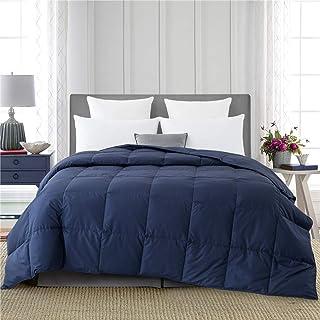 puredown Ultra Lightweight Down Comforter Down Blanket for Bedding Soft Down Comforter Summer King Size Navy